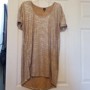 Metallic gold tunic